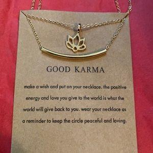 Dainty karma necklace ✨